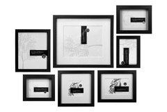 Enjoy collectables every day by creating a wall-mounted display using the same coloured frames. Corban & Blair Wall of Frames in 'Mixed Frames Collection' in black, RRP<br /> $273.00.
