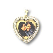 Heart Shape Photo Pendant