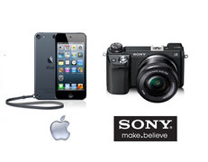 Sony Alpha NEX-6 Camera with 16-50mm lens ($999 value), Apple iPod Touch, Black, 32GB ($299 value)