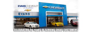 Syracuse Car Dealer Evans Chevrolet, offering new and used cars