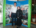 Milos Roanic with Tracey Bailey, President, Holland Bloorview Kids Rehabilitation Hospital Foundation