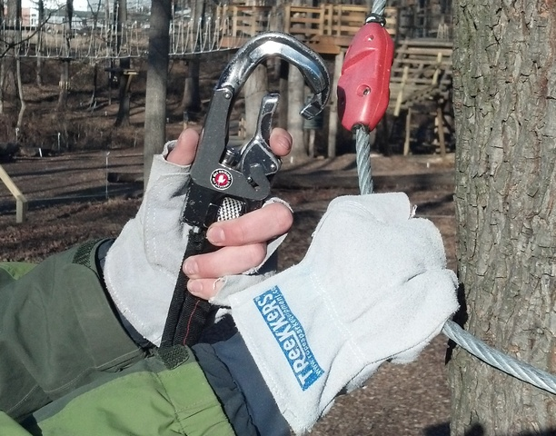 TReeKKeRS™ (for trekking in trees) is a new, economical glove designed for ropes and challenge courses and aerial adventure parks