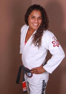 8-time world champion Hannette Staack sporting the Fenom Plumeria Gi. 