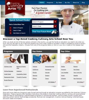 Cooking Culinary Arts Schools upgrades website to enhance the search experience for potential culinary students