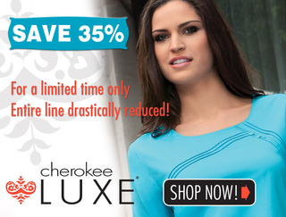 Cherokee Luxe and Dickies GenFlex Scrubs Now on Sale at Medical Scrubs Collection
