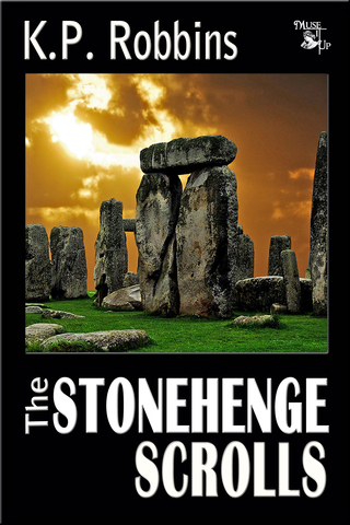 """""""The Stonehenge Scrolls"""" e-novel is available on Amazon and Nook."""