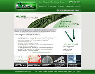 SURFACE SOLUTIONS GROUP WEBSITE PROMOTES BENEFITS OF PRECISION MEDICAL DEVICE COATING APPLICATION