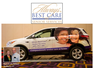 "Lois & Bob Nelson of Southbury, CT Win ""Car for a Year"" from Always Best Care"