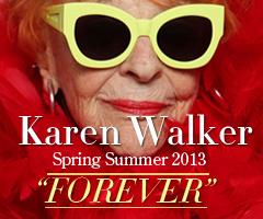 """Karen Walker sunglasses Spring Summer 2013 - """"Forever"""""""
