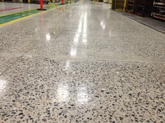 This is a 200 Grit Shine on an Industrial Floor using the WerkMaster COLOSSOS and Sealed With UltraGuard