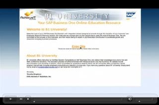 Achieve IT Solutions announces B1University.com: Online Education for SAP Business One Users