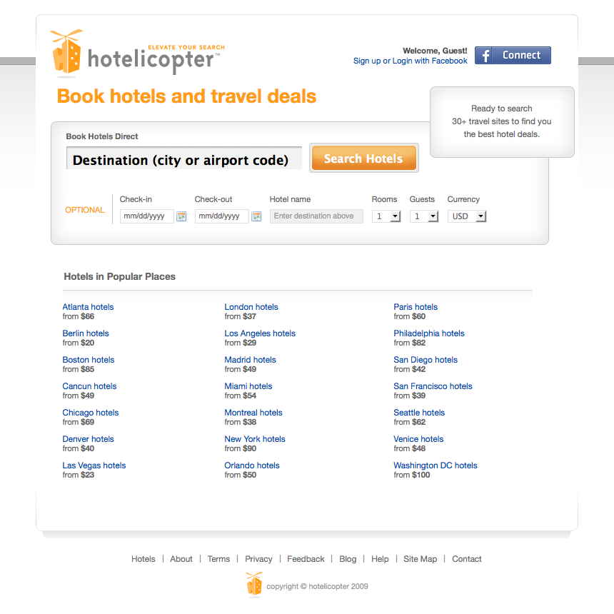 Hotelicopter launches premiere hotel search engine for Hotel search