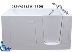 2653 Gel Coat Walk in Tub Model For Small Spaces