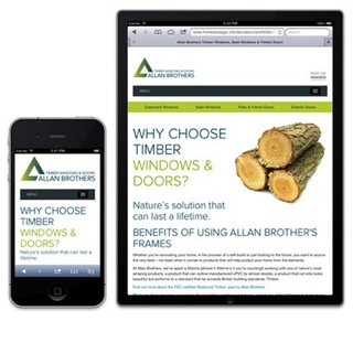 New responsive consumer website for Allan Brothers' timber windows and doors