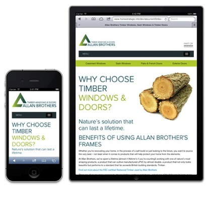 Allan Brothers' new responsive website generates a 90% increase in website enquiries.