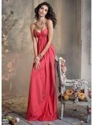 Sweetheart Floor-length Taffeta Flower Bridesmaid Dress
