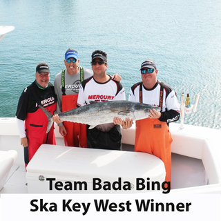 Son and Father  fishing team experiences fishing tournament win most just dream of.  Fish Chum Sponsor is very happy.
