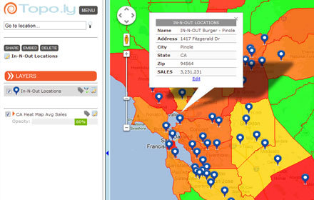 Online mapping from multiple address location Excel data