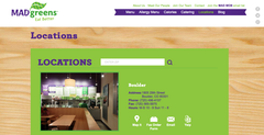 Colorado Salad Restaurant, Mad Greens, has launched a new location finder.