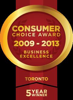 Consumer Choice Award, Business Excellence: 2009 - 2013