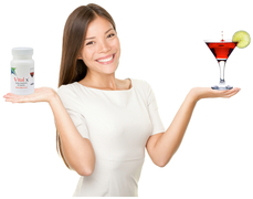 Vital x dietary supplement for alcohol consumers