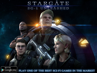 A new Interactive Adventure Game is now in the Google Play Store, Stargate SG-1: Unleashed Ep 1