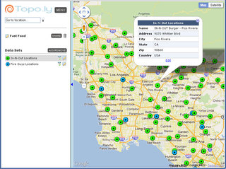 Capture and Use Address Locations Data Value with Topo.ly Online Mapping