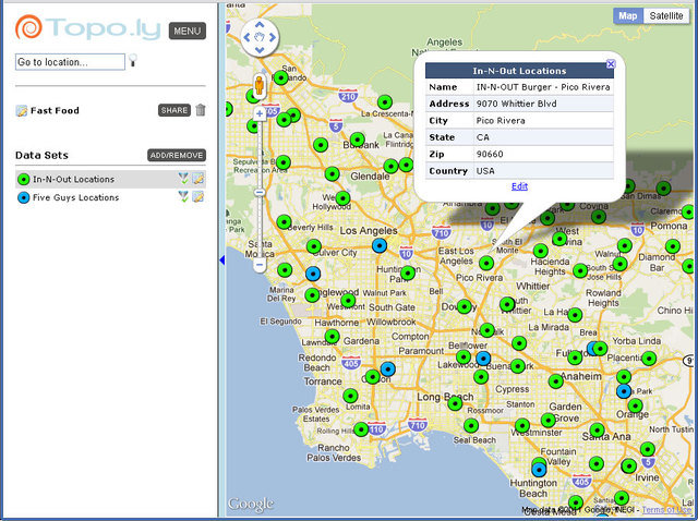 Analyzing Address Locations Through online mapping