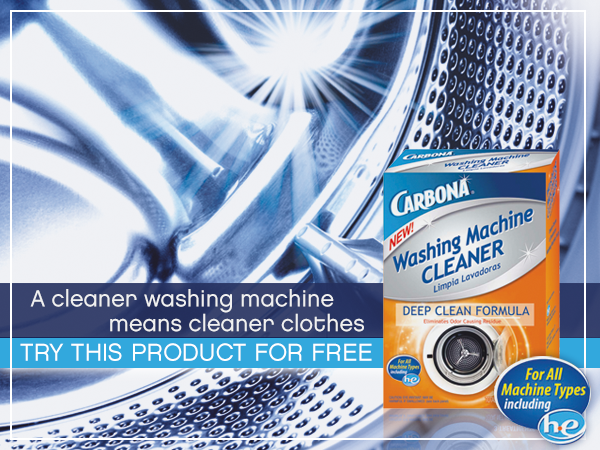 Carbona's newest product: Washing Machine Cleaner