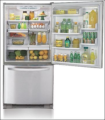 LG LDC22720ST 22.4 Cu.Ft. Bottom Freezer Refrigerator, Stainless Steel