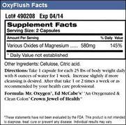 Oxyflush Facts