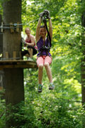 Zip lines will be just part of the fun at The Adventure Park at Frankenmuth, like this one at the company's Adventure Park at Sandy Spring Maryland.