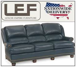 Lenoir Empire Furniture Sale: Hancock and Moore Austin High Back Sofa