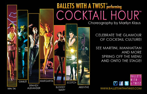 New York City's Ballets with a Twist will make its Cleveland debut with a performance of its signature show, Cocktail Hour, on Thursday, September 19 at 8 p.m.
