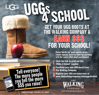 "The Walking Company Launches ""UGGs 4 School"" Campaign To Raise Money For School Programs"