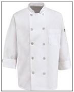 10 Pearl Button Chef Coat