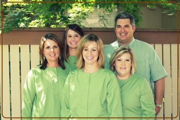 Eugene dentist, Kenneth M. Jones, DMD, and his dental team