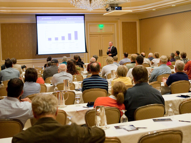 The event featured an educational discussion of healthcare REITs.