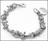 Chunky Sterling Silver Links of Hope Bracelet 5 Inch