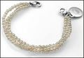 Triple Strand Links of Hope Pearl Bracelet 5 Inch
