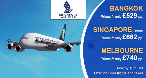 Southall Travel Launches Special Fares for Far East & Australia with Singapore Airlines