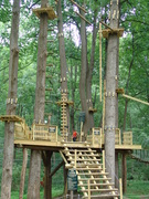 The heart of tree climbing--the starting platform at The Adventure Park at Sandy Spring Friends School, Sandy Spring, MD