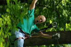"""Such excitement and enthusiasm is typical for young and old, alike, when they """"go climb a tree"""" at The Adventure Park"""