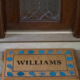 The professionals at Personalized Doormats can help design a monogrammed welcome mat or a custom logo entry doormat for any home or business in any size, depending on the customer's requirements.