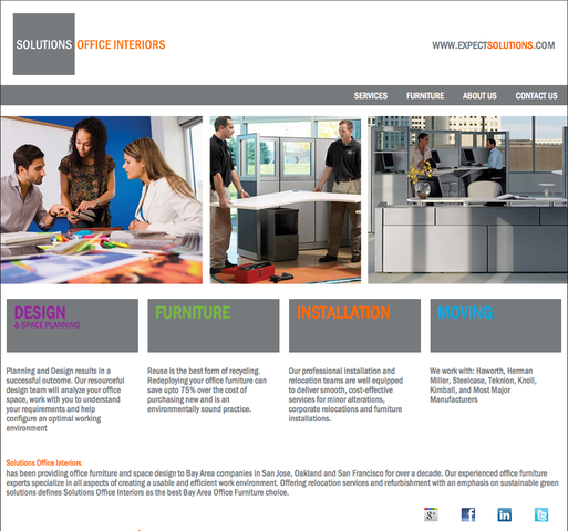 Solutions Office Interiors New Website