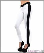 WHITE BLACK COLOR BLOCK PANTS-2-2-2