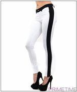 WHITE BLACK COLOR BLOCK PANTS-2-2-2
