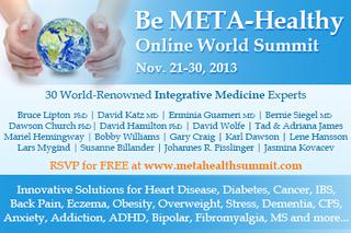 Revolutionary New Healing Wisdom at the Integrative Medicine Online World Summit from November 21-30, 2013