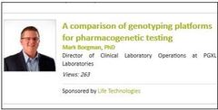 A comparison of genotyping platforms for pharmacogenetic testing : Wed Nov 20, 2013<br />