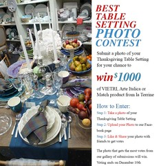 la Terrine Best Table Contest Giving Away Italian Dinnerware